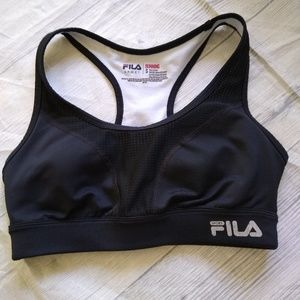 Fila sports bra size small black